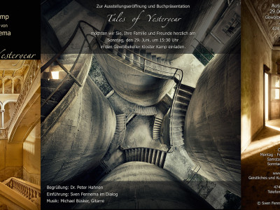 "Solo Exhibition – ""Tales of Yesteryear"" – 29.06. – 19.10.2014 – Kloster Kamp, Kamp-Lintfort"